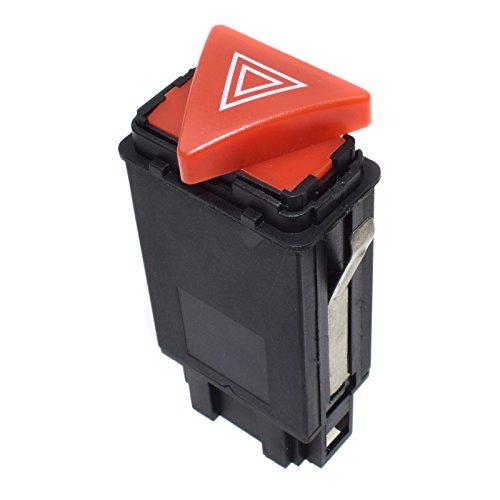 Nouvel Avertissement Interrupteur de Feux de Danger d'urgence Bouton de Tableau de Bord avertisseur Schalter pour Audis A3 8L1 8L0941509J / 8L0 941 509J