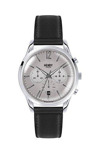 Henry London Orologio Cronografo Quarzo Unisex Adulto con Cinturino in Pelle HL39-CS-0077