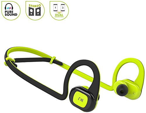 Bluetooth Headphones, Wireless Earbuds for Gym, Noise Cancelling Headsets for Workout, Sports Earphones with Mic, Best Beats Waterproof Cordless Sports Ear Buds, Neckband Headphones for Jogging