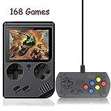 Kalolary 168 Spiele Handheld Spielkonsole, Mini Gameboy FC System Plus Extra Joystick Tragbarer Mini...