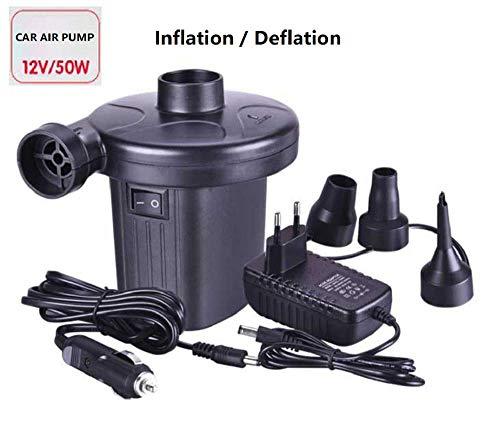 WYZXR Elektrische Pumpe Luftpumpe Kompatibel mit Schlauchbooten Luftbettpumpe 220V / 12V Kompatibel mit Autos/Fahrrädern/Luftmatratzen/Motorrädern und Pool Toy Float Pump