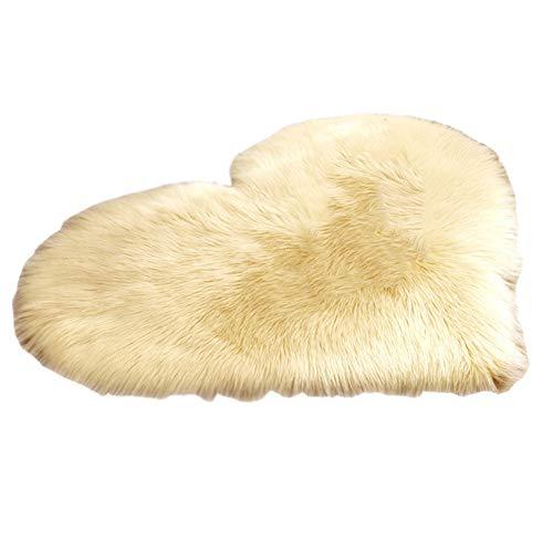 Tapis en Peau de Mouton Synthétique Cozy Sensation comme véritable Laine Tapis en Fourrure synthétique, Tapis de Canapé Coussin,Bleu Foncé,60 * 120CM