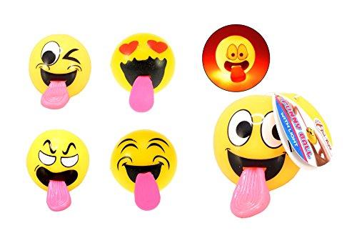 Toi-Toys–Smiley mit heraushängender Zunge Spiel Bälle und Luftballons, 35840z, Mehrfarbig