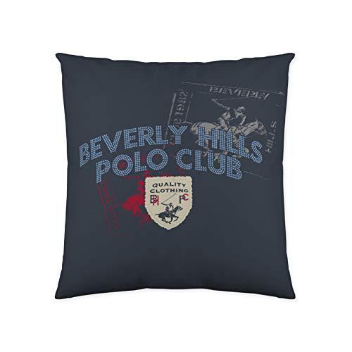 Beverly Hills Polo Club Foraker Funda de cojín, Algodón, Azul, Sin Relleno