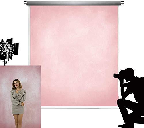 Kate Toile de Fond 1.5x2.2m Rose Clair Photographie Toile de Fond Rose Texture Photo Fond Accessoires Abstrait Microfibre Portrait Décors pour Bébé Prise de Vue