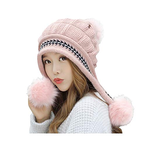 Yue668 Mme Lei Feng Bonnet Épaissir Bonnet Chaud Ball Ball, Chapeau Lei Feng, Gardez Au Chaud Des Chapeaux D'hiver Bonnet Ourlet En Laine Tricotée