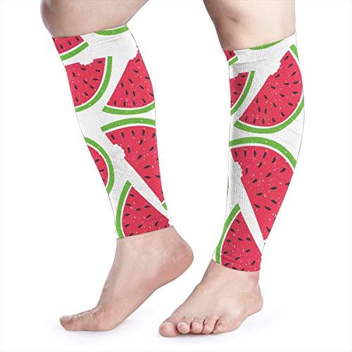 Patrón de compresión de pantorrilla de sandía de compresión de la pierna de apoyo para aliviar el dolor de la pantorrilla