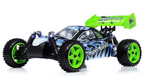 1/10 2.4Ghz Exceed RC Hyper Speed Beginner Version .18 Engine Nitro Powered Off Road Buggy Fire BlackSTARTER KIT Required