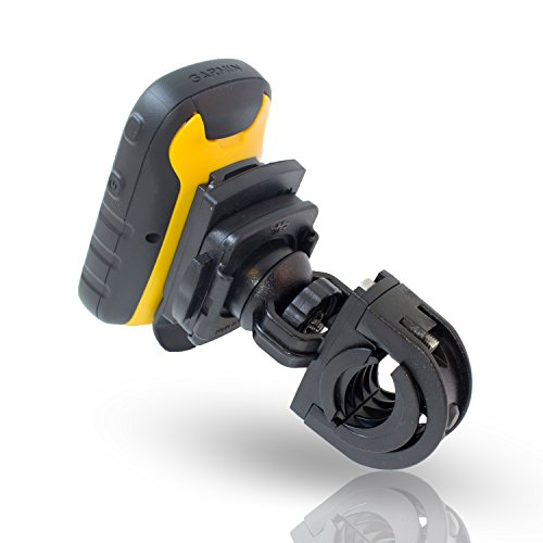 Smart Planet Fahrradhalter für Ihr Garmin GPS Gerät (vibrationsfrei, mit gut durchdachtem QuickFix-System - Farbe: Schwarz - ohne Halteschale
