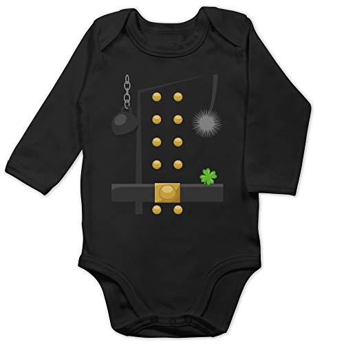 Shirtracer Karneval und Fasching Baby - Schornsteinfeger Kostüm - 12/18 Monate - Schwarz - Kinderkarneval - BZ30 - Baby Body Langarm