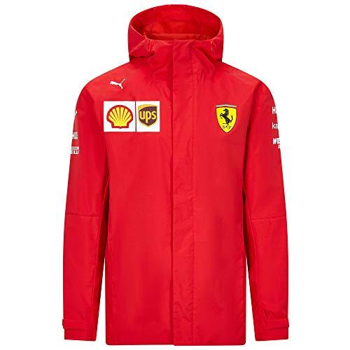 2020 Scuderia Ferrari F1 Team Herren Softshell Fleece Mantel Offizielles Produkt, Ferrari F1 Team Jacke, Herren (S) Brust 88-92 cm