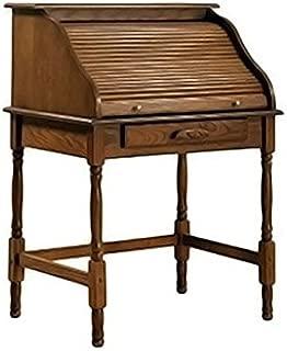 Coaster Home Palmetto Small Roll Top Secretary Desk Warm Honey