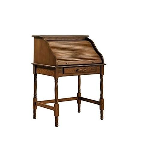 Coaster Home Palmetto Small Roll Top Secretary Desk Warm Honey 90a10ff265