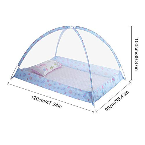 Moskitonetz Babybett Bodenloser Fliegennetz Anti Mücken Bett Zelt für Baby Kleinkind Bett-120cmx90cmx100cm