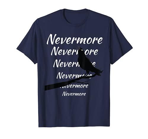 Drôle Quoth Raven Nevermore Edgar Allan Poe Poème littéraire T-Shirt