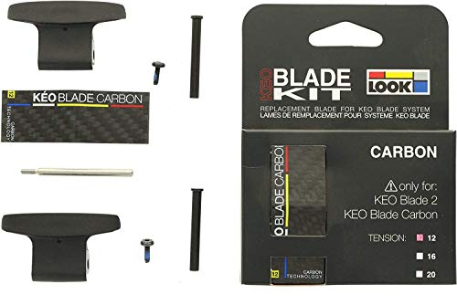Look Carbon Blade Kit Lame di ricambio per Keo Blade 2 / Keo Blade Carbon, Tensione 12