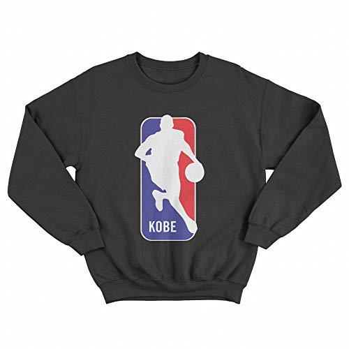 MUSH Felpa Girocollo Nera Unisex - Kobe Logo - NBA, XL