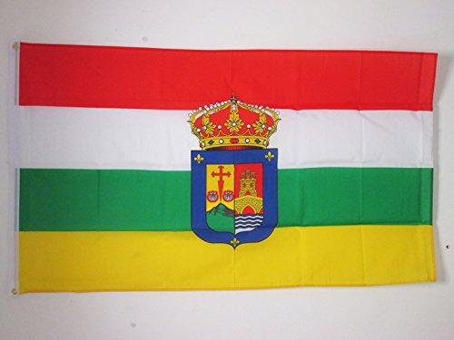 AZ FLAG Bandera de LA Rioja 150x90cm - Bandera RIOJANA 90 x 150 cm