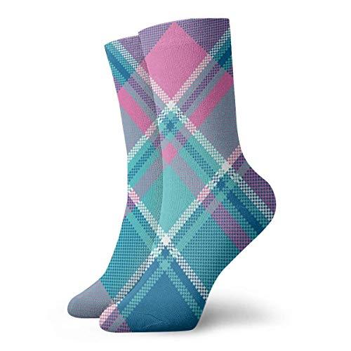 XCNGG Calcetines bebé niña color rosa pastel a cuadros para hombre calcetines atléticos para hombres cojín calcetín de entrenamiento deportivo informal