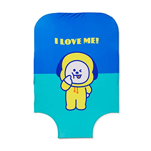 BT21 Official Merchandise by Line Friends - CHIMMY Character Luggage Protective Cover, 28""