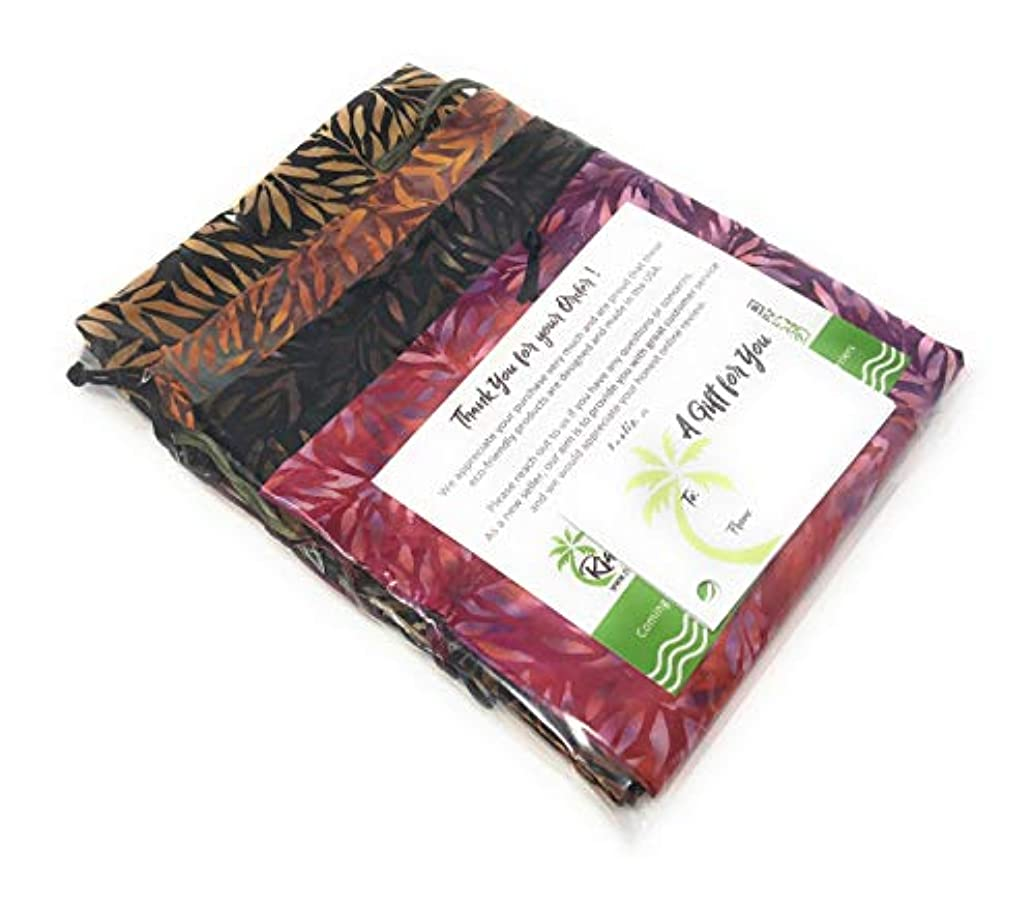 """Bali Ferns Collection-Reusable Drawstring Gift Bag 