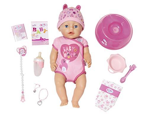 BABY born Soft Touch Girl Puppe mit lebensechten Funktionen und viel Zubehör, bewegliche Gelenke und weiche Soft-Touch-Oberfläche, 43 cm