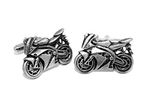 Boutons de Manchette Moto (avec Boîte à Cadeau)