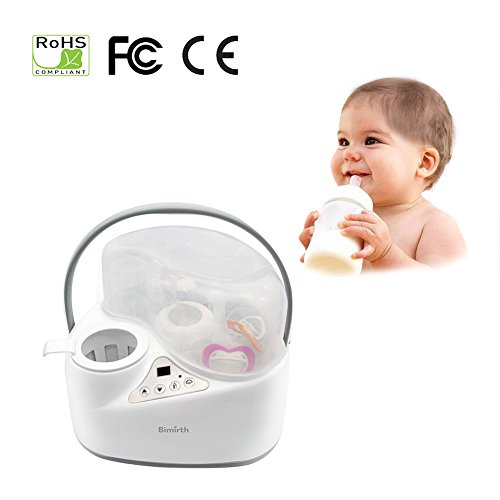 iBellete 4-in-1 Baby Flaschen wärmer Food Warmers, Sterilizer Food Heater Smart Thermostat ,Dampf-Sterilisator Schnell Milchwärmer gleichmäßig, Easy Safe Gentle up .