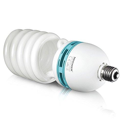 Neewer 85W 220V 5500K Tri-Fosforo Spirale Bulbo Fluorescente Compatto CFL Luce Naturale Equilibrata Lampadina con Montatura E27 per Illuminazione Effetto Studio per Fotografia Video