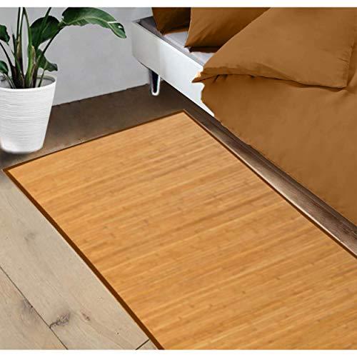 Hogar y Mas Alfombra Pasillera, Salón o Dormitorio, Madera de Bambú Natural para Interior (65x200)