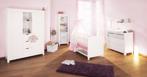 Pinolino Kinderzimmer Nina 3-teilig große Wickelkommode (Liegefläche (B x L): 70 x 140 cm, Schrankmaße (B x H): 142 x 190 cm)