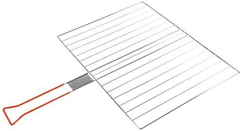 Laguiole 5PIC012LG - Griglia per cottura semplice, rettangolare, con manico in PVC, in acciaio, 30 x 40 cm