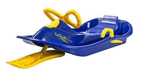 Lucky Bums Plastic Racer Sled, 40-Inch, Blue/Yellow