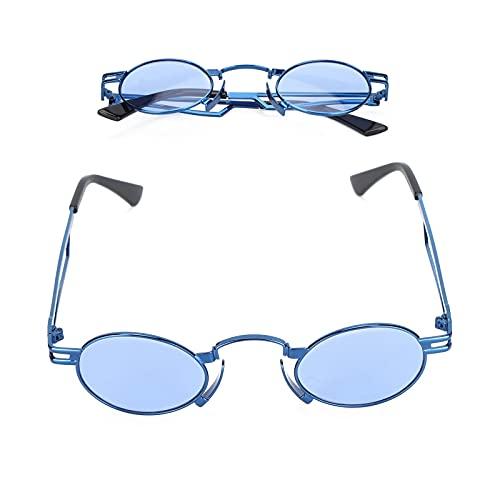 SOJOS Gafas de sol de aviador cuadradas de moda, gafas de sol azules, gafas de sol de protección UV de estilo único, gafas de sol de protección ocular para exteriores para mujer, lentes de espejo pl