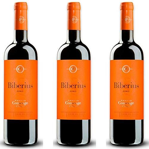 Biberius Roble Vino Tinto - 3 botellas x 750ml - total: 2250 ml