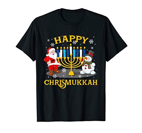 Happy Chrismukkah Funny Hanukkah Christmas Jewis Gifts Xmas T-Shirt