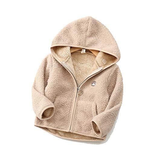 Chaqueta de felpa infantil de franela de manga larga con capucha para deportes extremos de invierno, esquí, 2,90 cm