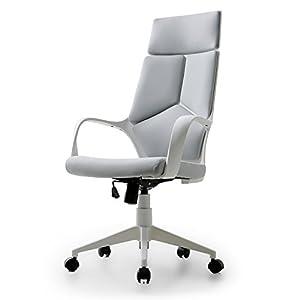 LOWYA ロウヤ オフィスチェア デスクチェア パソコンチェア 椅子 ハイバック ファブリック グレー/ホワイト