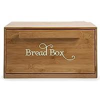 YKBBA 2個のパン箱ビンデカールステッカーキッチンレストラン 35cmワイドx12cmハイ ライトブルー