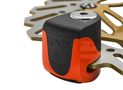 KOVIX KS6 Series-BLOCCADISCO con Alarma DE Carga USB Color Fluo Orange KS6-FO