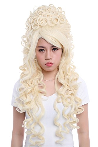 """31.5"""" Women's Wig California Marie Antoinette Cosplay Costume Long Hair Curly Wavy Full Head Party Hairpiece Beige"""