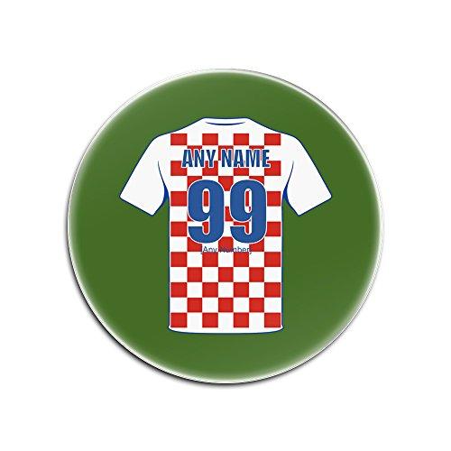 Gepersonaliseerd geschenk - Kroatië Nationale Gloss Hardboard Coaster (Football Team Design Kleur) Elke Naam / Nummer Unieke Mat Pad - Kit Shirt Jersey Strip Blazers FIFA World Cup UEFA Europees Kampioenschap