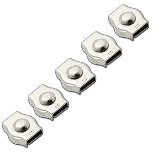 FASTON® Simplex Drahtseilklemme 3mm Edelstahl A4 V4A (5 Stück) Seilklemmen Drahtseil Klemme Kabelklemme Anzug für Seil