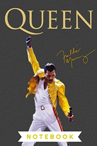 Freddie Mercury | Notebook , Journal | Perfect for Birthday gifts and Fan club members: Perfectly Lined journal ,120 pages , 6x9 inches