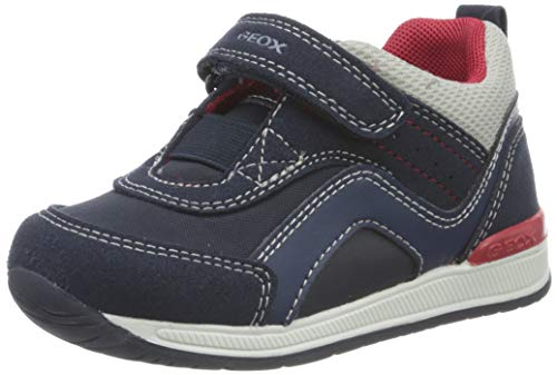 Geox Baby-Jungen B RISHON Boy A First Walker Shoe, (Navy/Grey), 21 EU