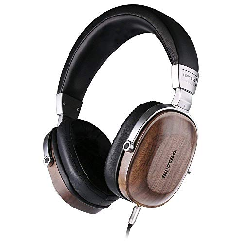 Built-in Mic, SIVGA SV004 Hi-Fi Wood Over-Ear Stereo Open Back Wired Headphones