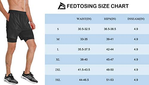 FEDTOSING Running Shorts for Men Quick Dry Lightweight Workout Gym Shorts 2 in1 Athletic Shorts with Phone Pocket
