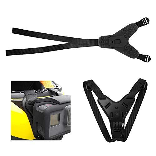 Topiky houder voor camerahouder, draagbare houder voor volledig vizier-motorhelm met vaste kin, voor GoPro Hero, DJI OSMO, Xiaomi, XiaoYi, Sony, EKEN, zwart
