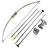 FlyArchery Camo Recurve Bow Set Bow Arrow Kids Bow Longbow Children Junior Gift Toy Outdoor Game 4 Arrows Finger Arm Guard