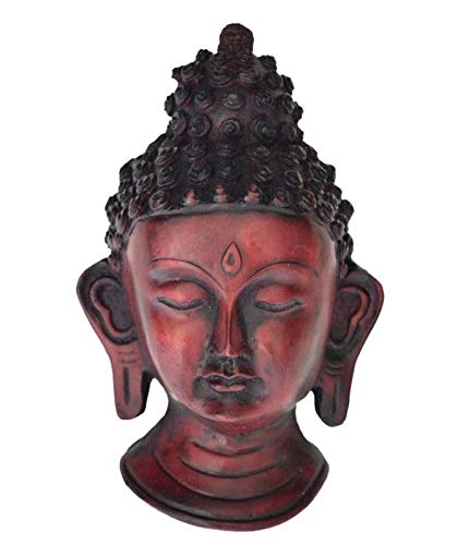 Shrinath Handicrafts Collectible Antique Resin Buddha mask Wall mask Wall Hanging Wall Sculpture Buddha Head Face for Home décor Gift Item